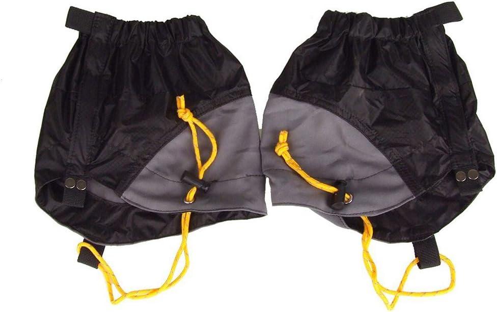 NUOLUX Pair of Outdoor Waterproof Ankle Walking Gaiters Hiking (Black)