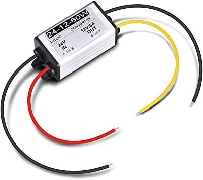 Dc 24v To 12v 60w 10A Converter Regulator Car Power Supply Adaptor Aluminum