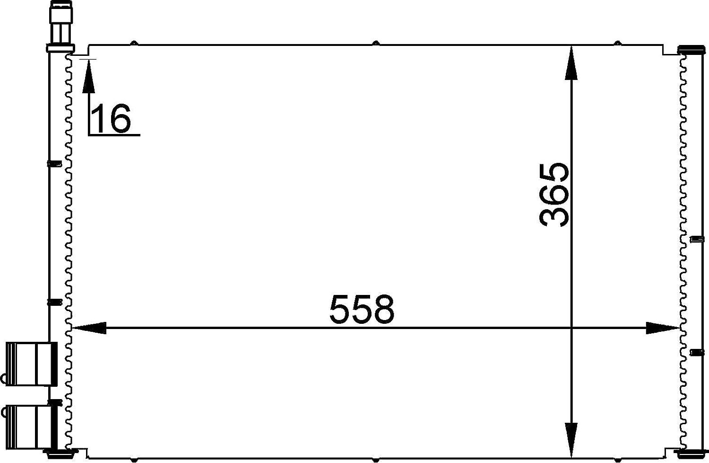 BEHR HELLA SERVICE 8FC 351 300-354  Kondensator Klimaanlage