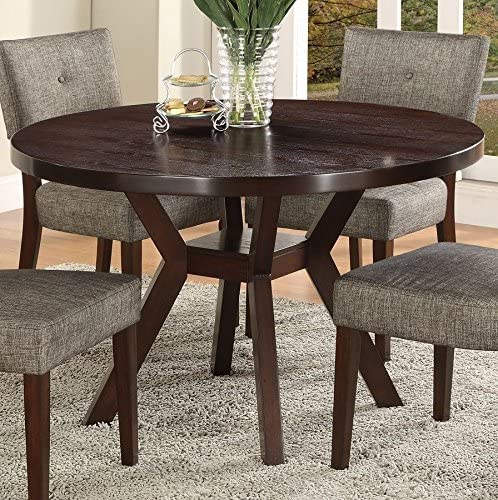 Kayla Dining Table in Brown Woodgrain by Crown Mark