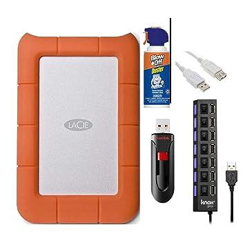 Amazon.com: LaCie 301558 Rugged Mini USB 3.0/2.0 1Tb Disco ...