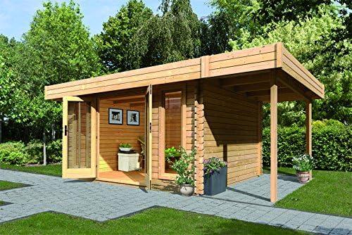 Chalet de jardín madera 11, 06 m² (28 mm con) Appentis tejados ...
