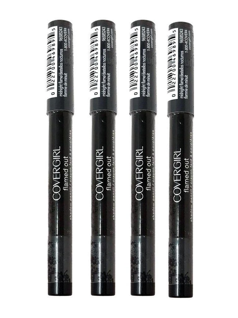 4x COVER GIRL Flamed Out Shadow Pencil (Midnight Flame 370.08 oz) Old Version