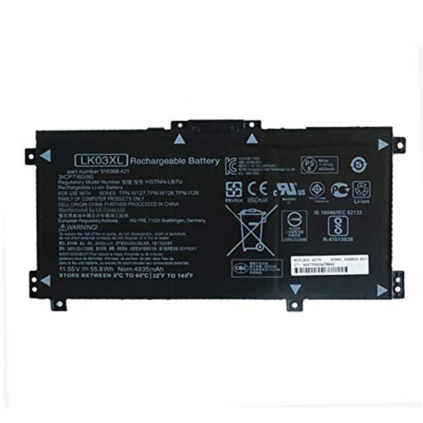 Bateria LK03XL HSTNN-UB71 916368-541 11.55V 55.8Wh 4835mAh H