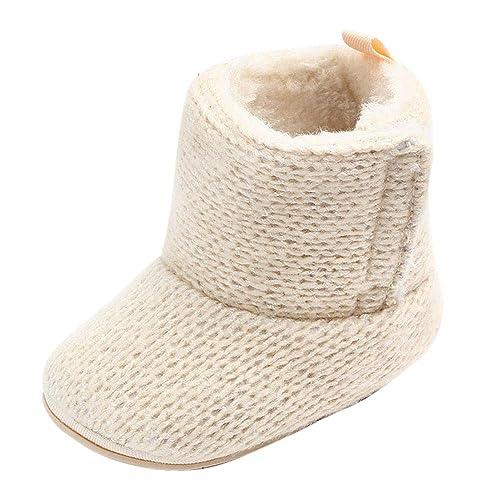 Topgrowth Scarpe Primi Passi Bambina Inverno Infantile Stivali Caldi Bimba  Prime Scarpe con Suola Neonato Stivali 6d5a1849bdc
