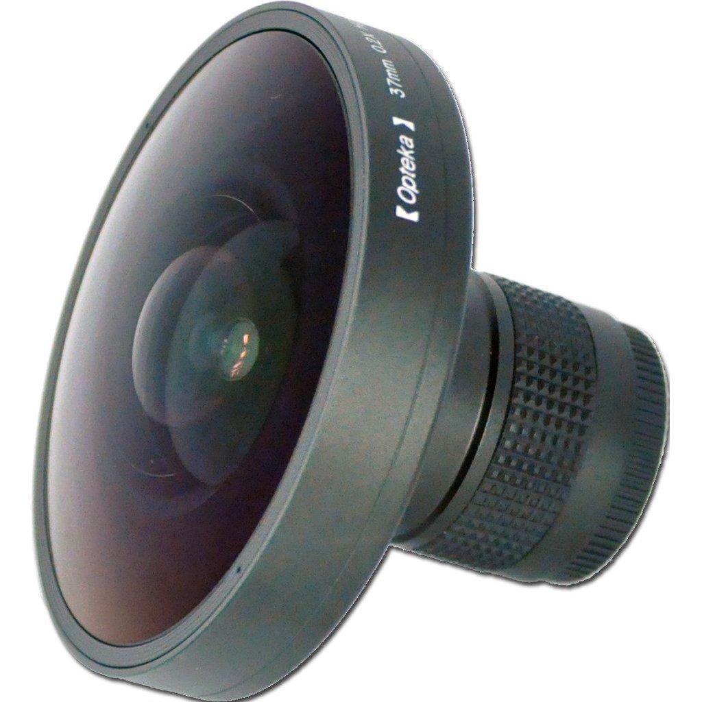 Opteka Platinum Series 0.2X HD Panoramic Vortex 220Deg Fisheye Lens for Hitachi DZ-GX5100, DZ-HS301, DZ-HS401, DZ-HS501, DZ-HS803, DZ-HS903, DZ-MV3000 and DZ-MV350 Digital Camcorders by Opteka