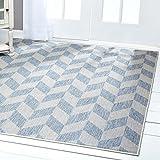 Home Dynamix Nicole Miller Patio Country Calla Indoor/Outdoor Area Rug 5'2'' x7'2, Modern Geometric Blue/Gray
