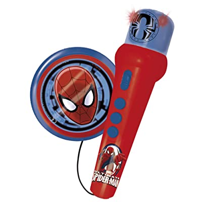 REIG Ultimate Spider-Man Hand Microphone with Amplified Speaker: Toys & Games