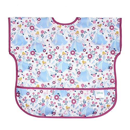 Bumkins Disney Cinderella Junior Bib / Short Sleeve Toddler Bib / Smock 1-3 Years, Waterproof, Washable, Stain and Odor Resistant
