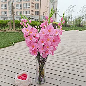 Flameer Artificial Flowers, Fake Silk Flowers, Plastic Flowers Arrangement Wedding Bouquet, for Home Garden Party Wedding Decoration 13