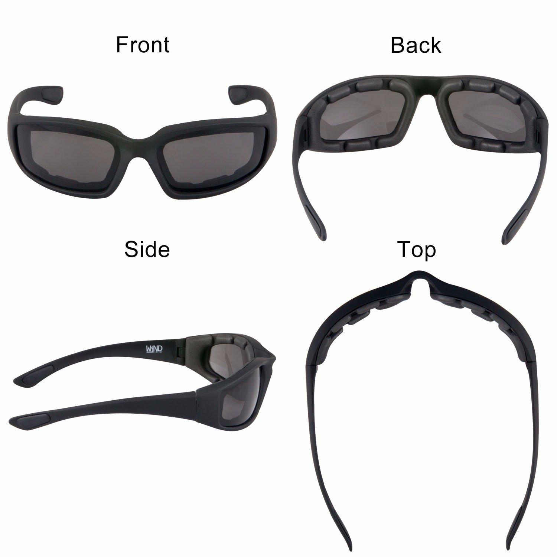 ba8916829a6 WYND Blocker Motorcycle   Biking Wind Resistant Sports Wrap Sunglasses  (Black   Smoke Lens)  Amazon.ca  Jewelry