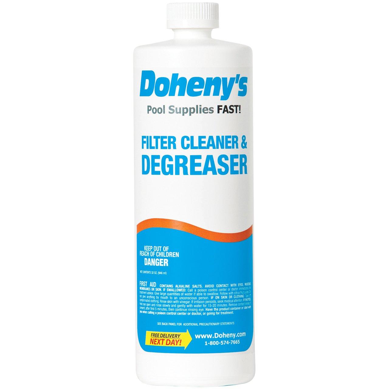 Doheny's Filter Cleaner & Degreaser - 1 Quart Bottle