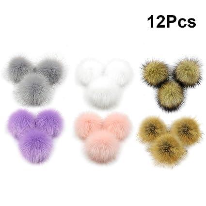 SUPVOX Fluffy Pompon Palla Faux Pelliccia di Volpe per Cappelli Berretti  Scarpe Sciarpe Borsa Accessori Charms 47ffbb5095cc