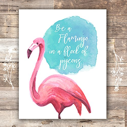 - Flamingo Decor Art Print - Unframed - 8x10