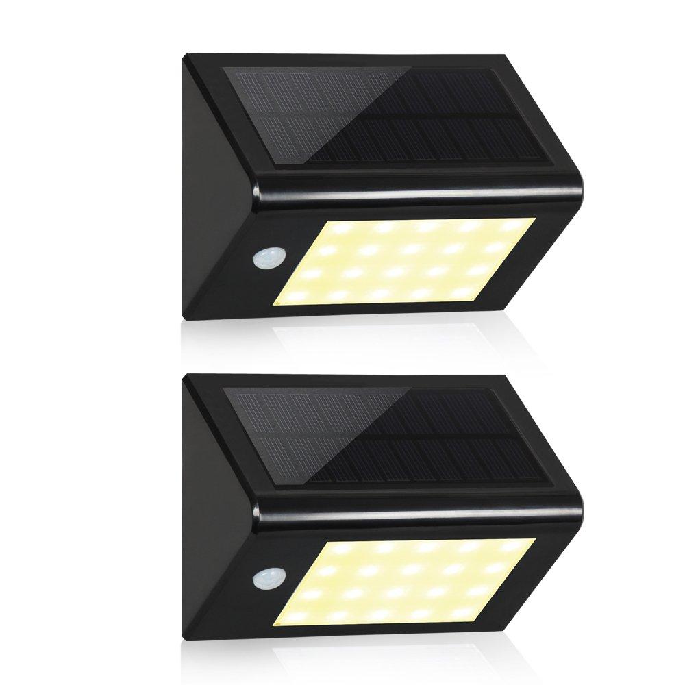 Solar 20 LED 壁取付用ライト ブラック T-SUN B01LSOB9DI 14740 Black(3000K)-2 Pack Black(3000K)2 Pack