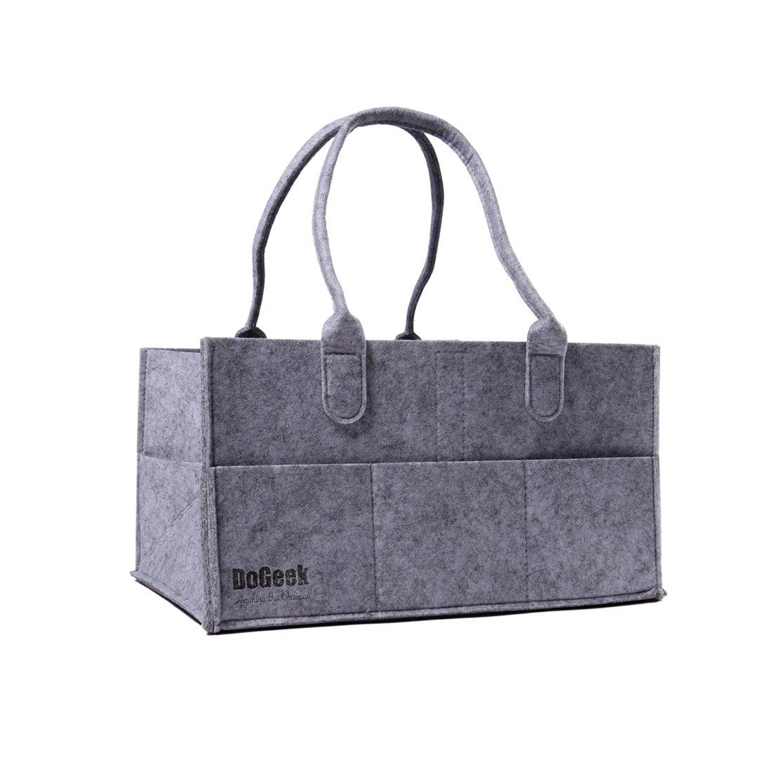 DoGeek Wickeltasche Baby Windel Caddy Tasche Multifunktionale Aufbewahrungskorb Baby Windel Tasche Aufbewahrungsbox DE-DG-diaper storage bag-grey