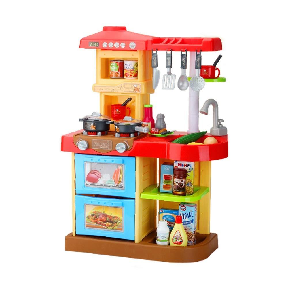 bienvenido a elegir Juguetes Xiaomei Infantiles de de de simulación de Cocina. Iluminación y Efectos de Sonido Infantiles de Cocina. (Color : Red)