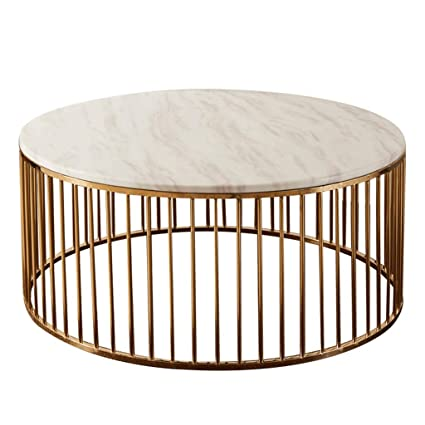 Wire Frame Coffee Table.Amazon Com Simple Coffee Table White Marble Tabletop Solid Metal