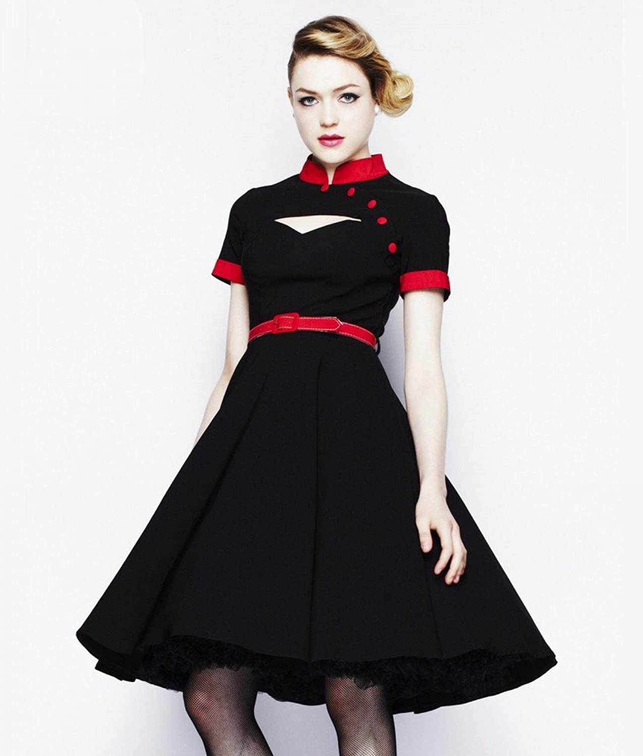 50s Fifties ROCKABILLY Dress with Petticoat WENDY