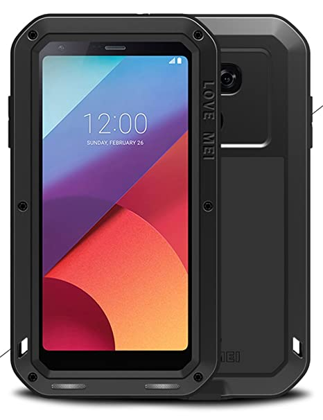 sports shoes 35cb0 abe62 Aluminum Case for LG G6, LOVE MEI Brand Waterproof Cover, Powerfull  Shockproof Silicone Hybrid Metal with Tempered Glass Screen Protector  [Two-Years ...