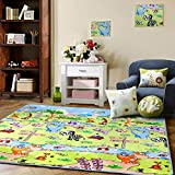 MeMoreCool Dinosaur Park Cartoon Area Rugs Anti-slip Kids Bedroom Carpet Thicken Baby Crawling Mats Cute Animals...
