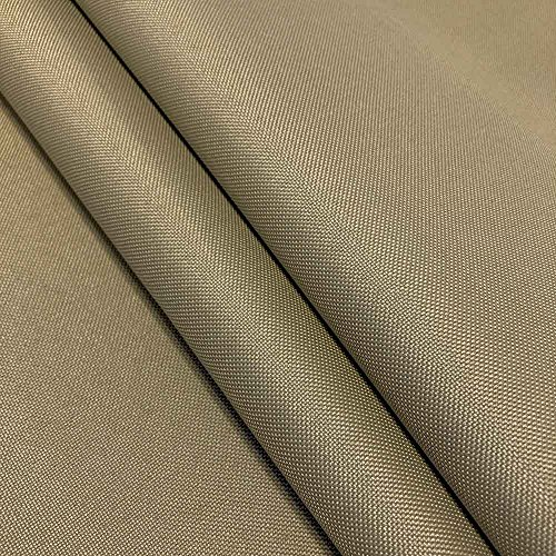 "Ottertex Canvas Fabric Waterproof Outdoor 60"" wide 600 Denier 15 Colors sold by the yard (10 YARD, Khaki)"