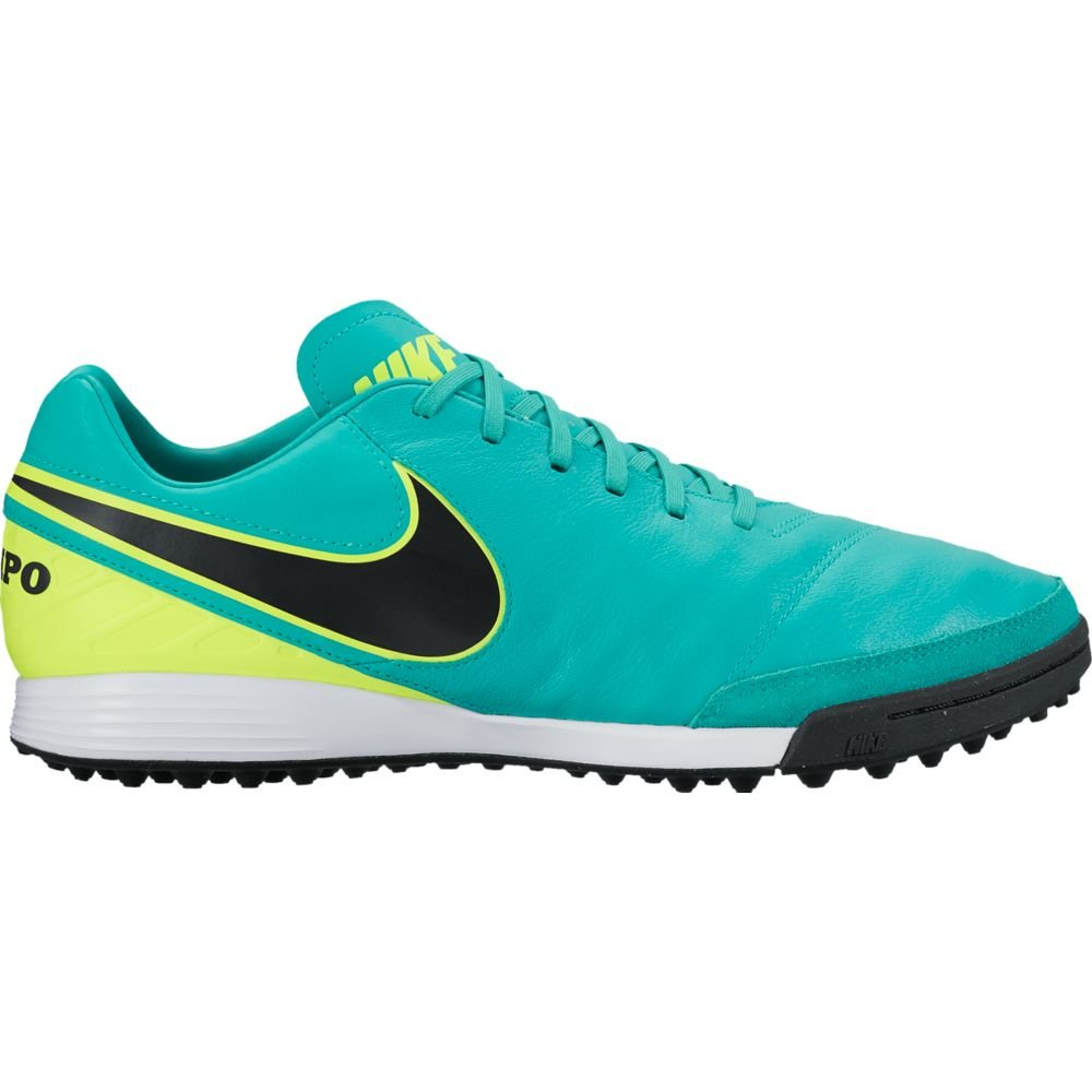 NIKE Men's Mystic V TF Turf Soccer Shoe (6.5 D(M) US, Clear Jade/Black/Volt)
