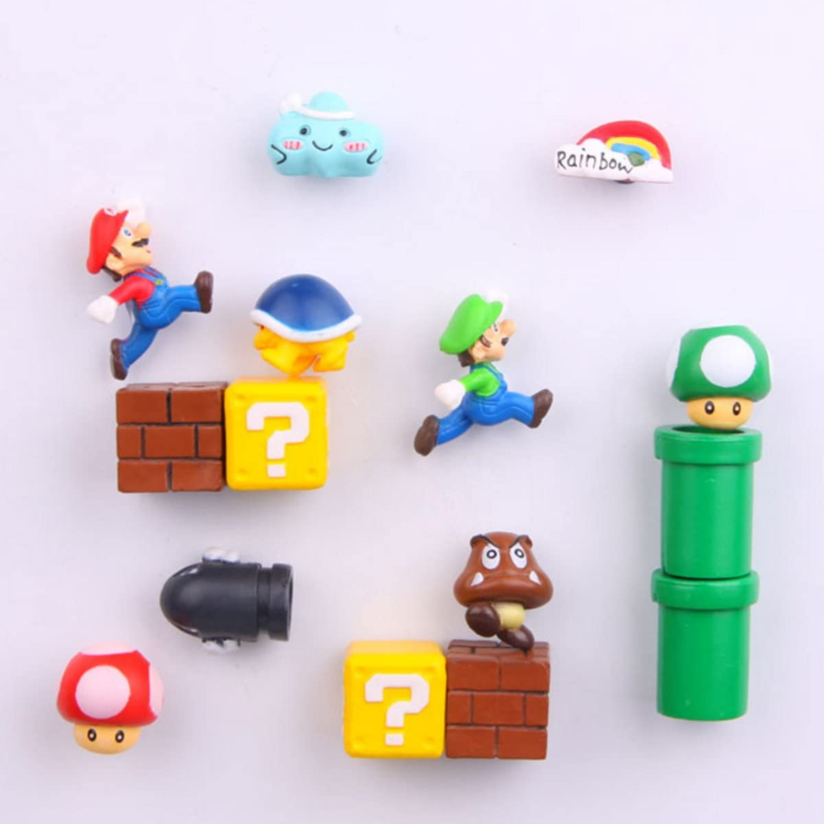 14 Pcs Mario Fridge Magnets Set, Refrigerator Magnets, Office Magnets/Calendar Magnet/Whiteboard Magnets/Mario Decorative Refrigerator Magnets Kitchen Kit