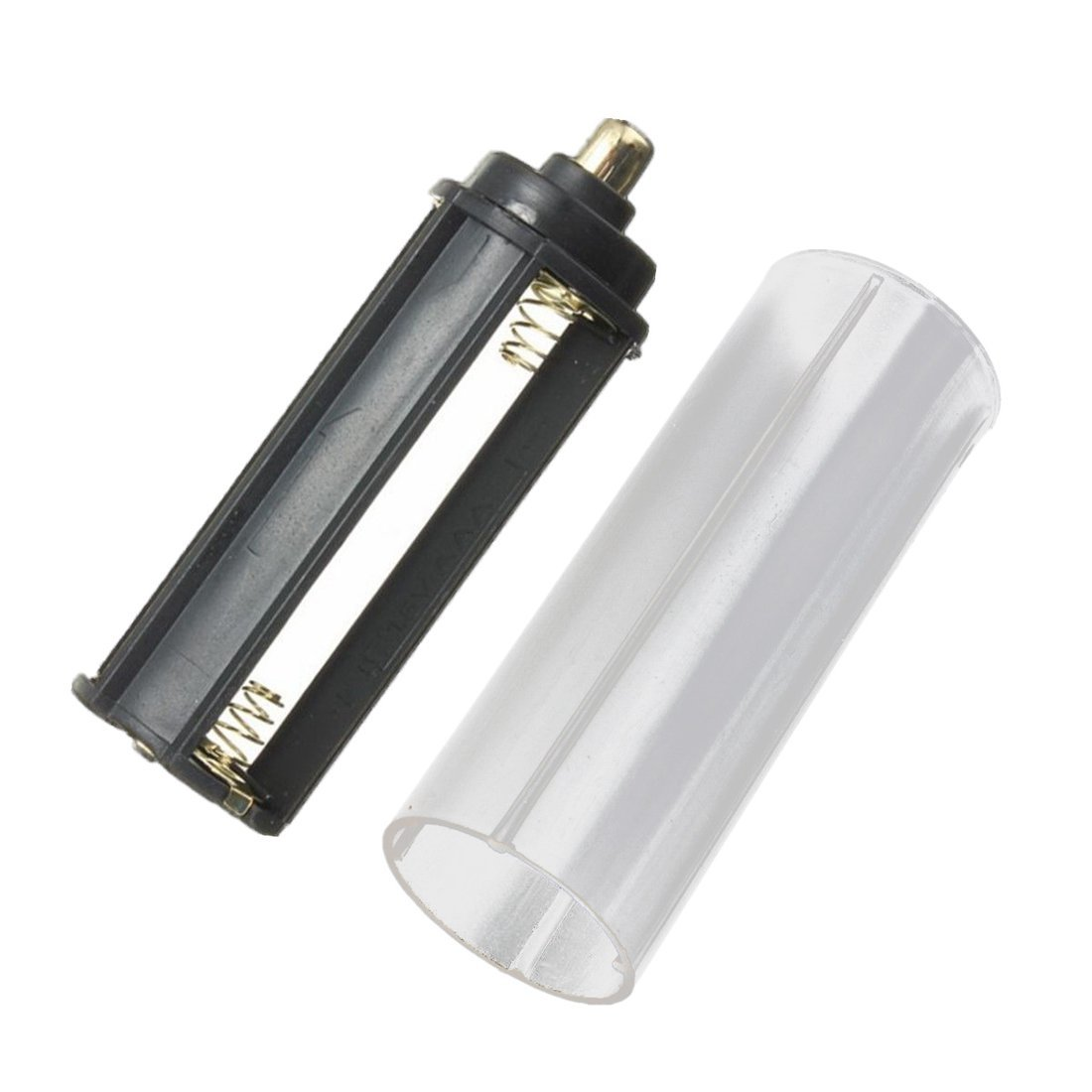 SODIAL(R) New 1PCS 18650 Battery Tube + 1PCS AAA Battery Holder for Flashlight Torch Lamp