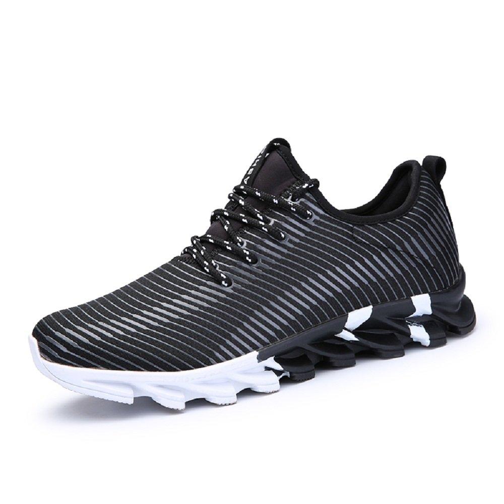 HangFan - Zapatillas de running de Material Sintético para hombre 40.5 EU negro