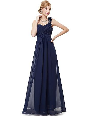 f3d4e27bcbf Ever-Pretty Flower One Shoulder Empire Waist Floor Length Bridesmaids Dress  09768