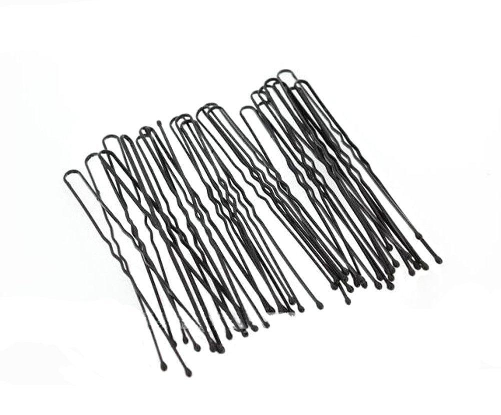 Noir ondulées épingles à cheveux épingles à chignon Epingles A Cheveux Plus Grande Longueur 7cm classique accessoire pour cheveux Idéal pour petits pains coiffures Relevées et plus (50Pcs) erioctry