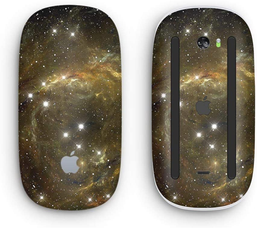 Design Skinz Premium Vinyl Decal for The Apple Magic Mouse 2 Wireless, Rechargable with Multi-Touch Surface Glowing Gold Universe
