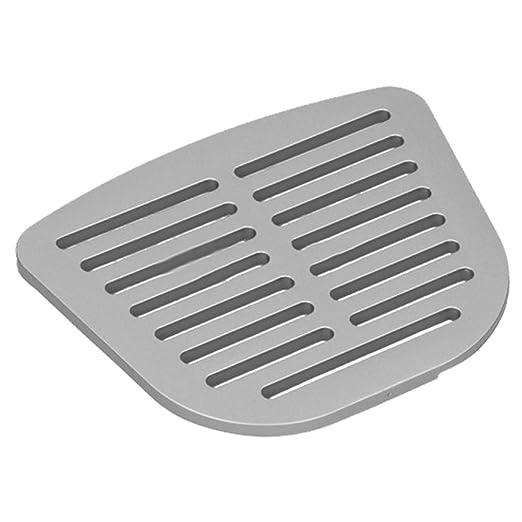 Spares2go - Plato de filtro de agua para nevera, color plateado y ...