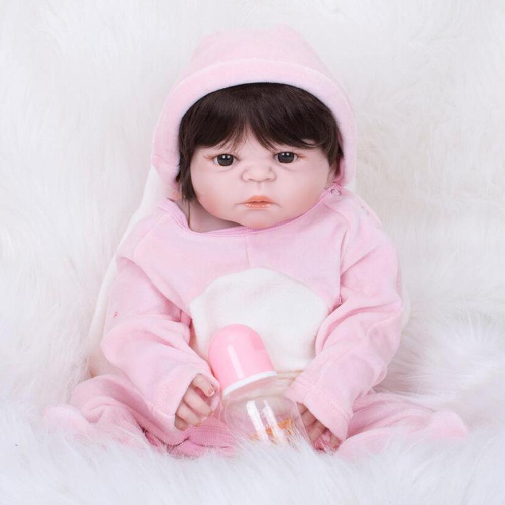 HAOBAO Suave Silicona SimulacióN Bebé Reborn Lindo AcríLico ...