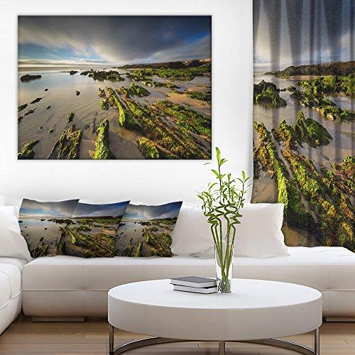 Furnas Virgin Beach Galicia Spain Seashore Canvas Art Print by Design Art