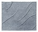 KAVKA Designs Aversa Fleece Blanket, (Blue) - ENCOMPASS Collection, Size: 80x60x1 - (TELAVC8015VPL)