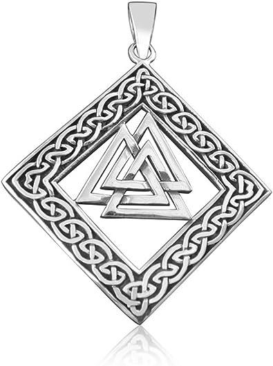 Amazon Com Elegant Jewel 925 Sterling Silver Celtic Infinity Knots Knotwork Nordic Norse Valknut Viking Odin Pendant Jewelry