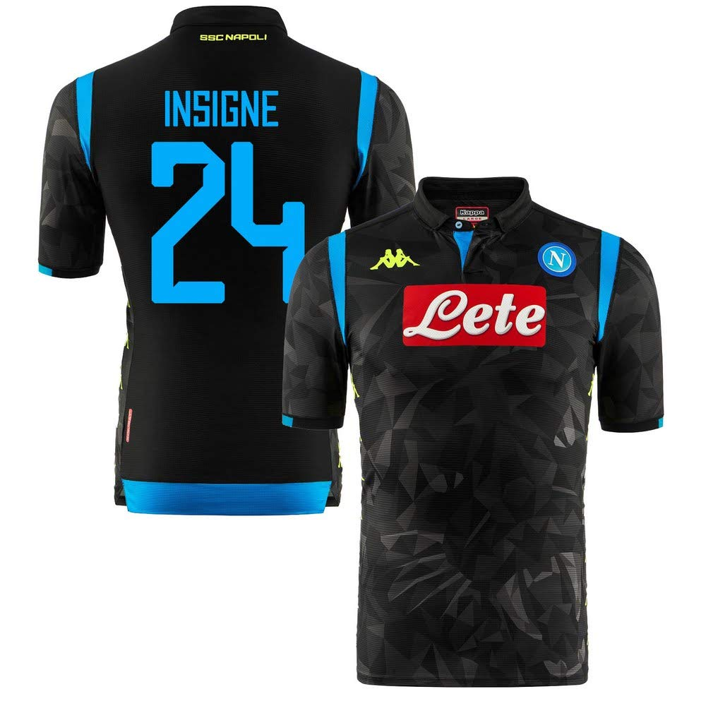 Neapel Away Champions League Match Trikot 2018 2019 + Insigne 24 (Fan Style)