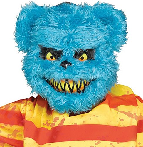 Scary Furry Killer Critter Blue Bear Mask -