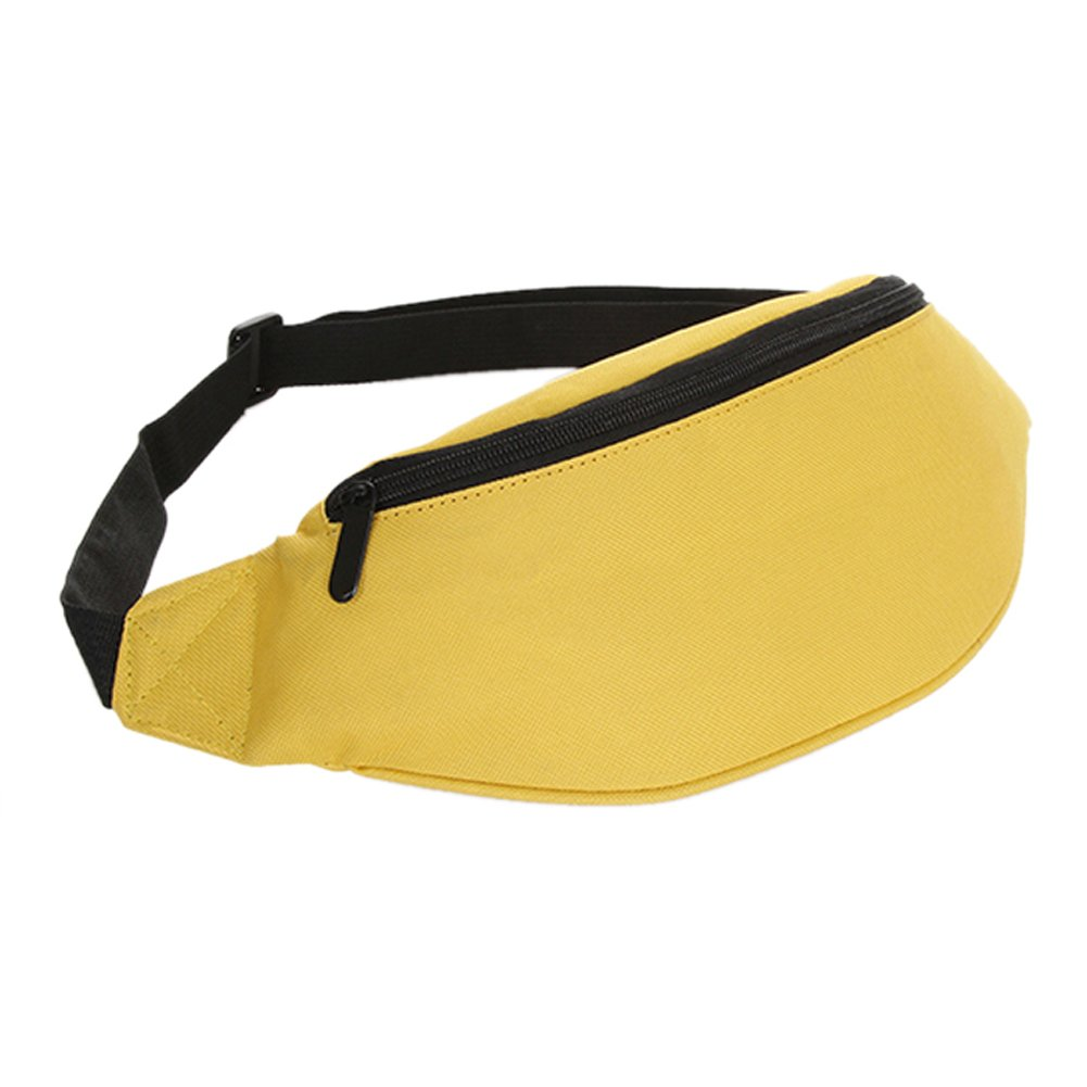 TOOGOO Bolsa Rinonera Bolso de dinero de festival de cintura cadera Cartera de cinturon Deporte Vacacion Ninos amarillo TOOGOO(R) 050613A7