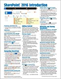 img - for Microsoft SharePoint 2016 Introduction Quick Reference Guide - Windows Version (Cheat Sheet of Instructions & Tips - Laminated Card) book / textbook / text book