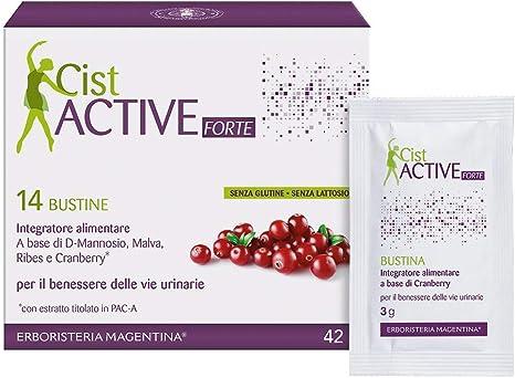 Erboristeria Magentina Cist Active Forte 14 Bustine Integratore Alimentare Per Il Benessere Delle Vie Urinarie Amazon It Salute E Cura Della Persona