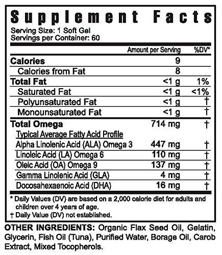 ULTIMATE EFA - 60 SOFT GELS per Bottle - 3 Pack by Youngevity (Image #1)