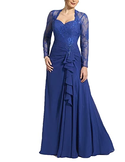 Graceprom Plus Size Royal Blue Mother Of The Bride Dress With Long