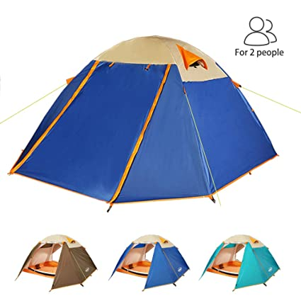 ZOMAKE Lightweight Backpacking Tent 2 Person - 4 Season Waterproof C&ing Tent (Jewelry Blue)  sc 1 st  Amazon.com & Amazon.com : ZOMAKE Lightweight Backpacking Tent 2 Person - 4 Season ...