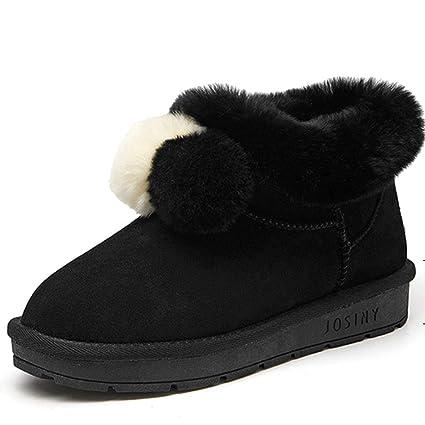 Botas Botines de Terciopelo a la Moda. Zapatos para Caminar. Zapatos de Mujer Ligeras