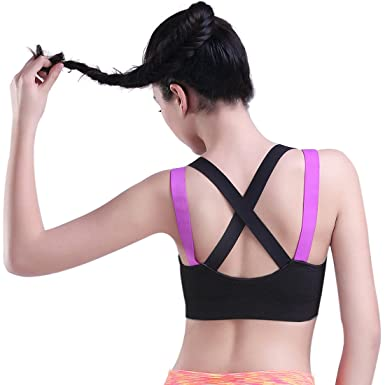 875477c03b648 HeartFor Racerback Sports Bras for Women - Padded High Impact Workout