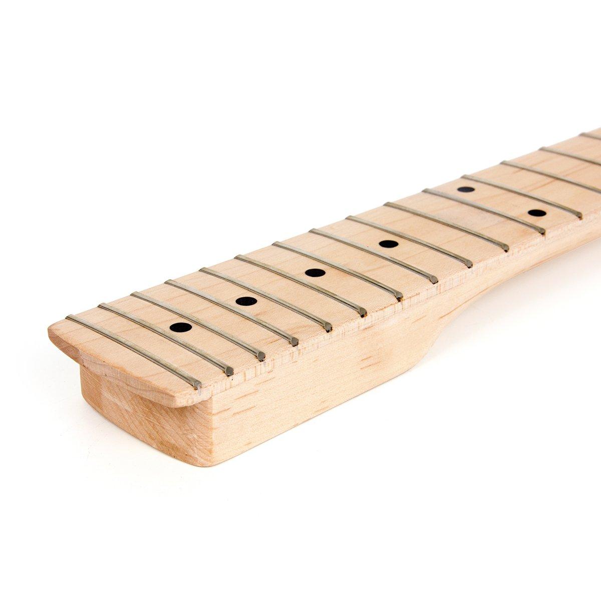 Kmise DIY Parts Clear Satin Maple 22 Fret Bolt on Paddle Headstock Electric Guitar Neck (4334250134) by Kmise (Image #6)