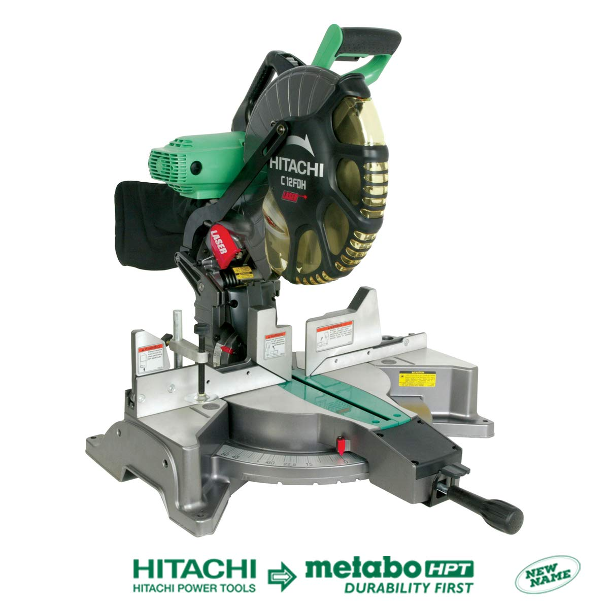 Hitachi C12FDH 15 Amp 12-Inch Dual Bevel Miter Saw with Laser Discontinued by Manufacturer